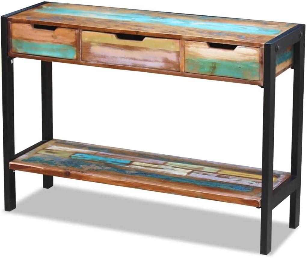 vidaXL Solid Reclaimed Wood Sideboard Side Console Table Highboard 3 Drawers