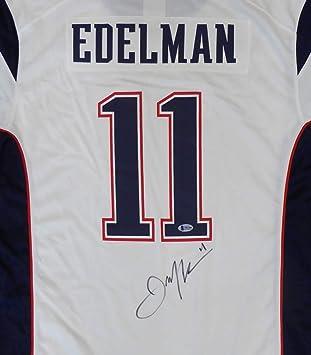 Amazon.com: NE Patriots Julian Edelman Autographed White Jersey SB ...