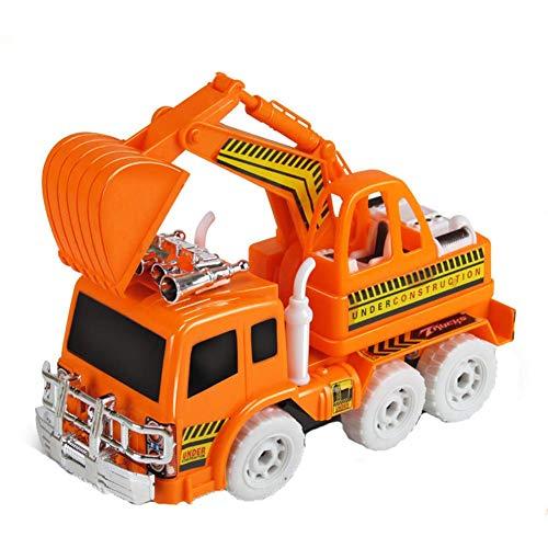 LJSHU Excavadora de niños de ingeniería Luminosa Universal vehículo con Todas Las Funciones Equipo de Juego