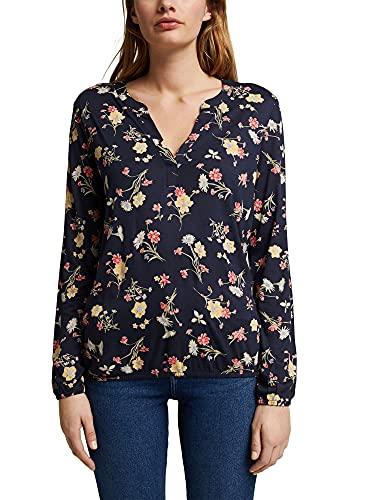 ESPRIT Damen 991EE1K338 T-Shirt, 400/NAVY, XL