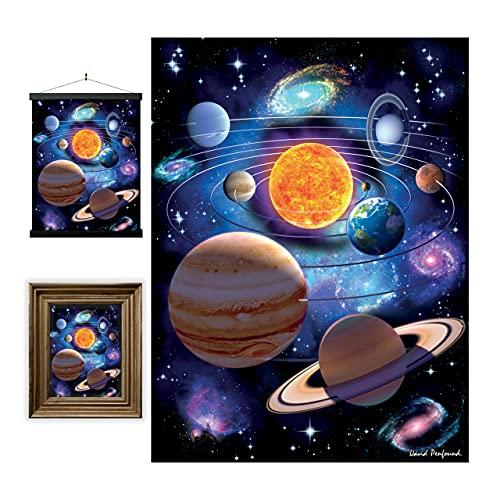 3D LiveLife Lenticular Cuadros Decoración - Planetas de Deluxebase. Poster 3D sin marco del Espacio. Obra de arte original con licencia del reconocido artista, David Penfound