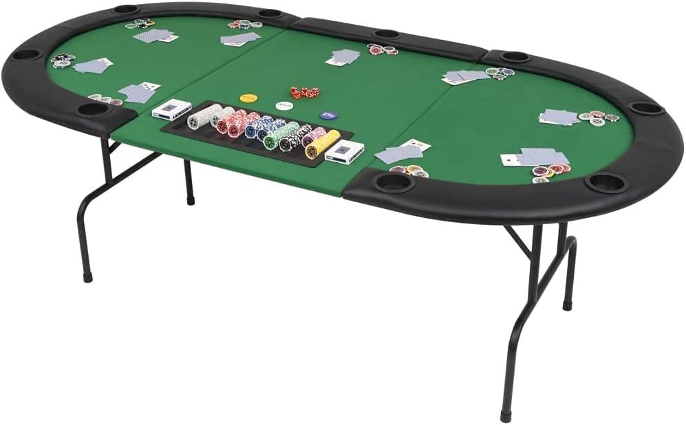 9-Player Folding Poker New arrival Table Game Clot San Francisco Mall Fold,oard 3