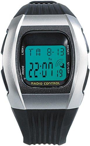 PEARL Funkarmbanduhr: Digitale Unisex-Sport-Funkuhr mit LCD-Display SW-640 dcf (LCD Armbanduhr)