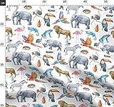 Dschungel, Zebra, Flamingo, Elefant, Safari, Nashorn,