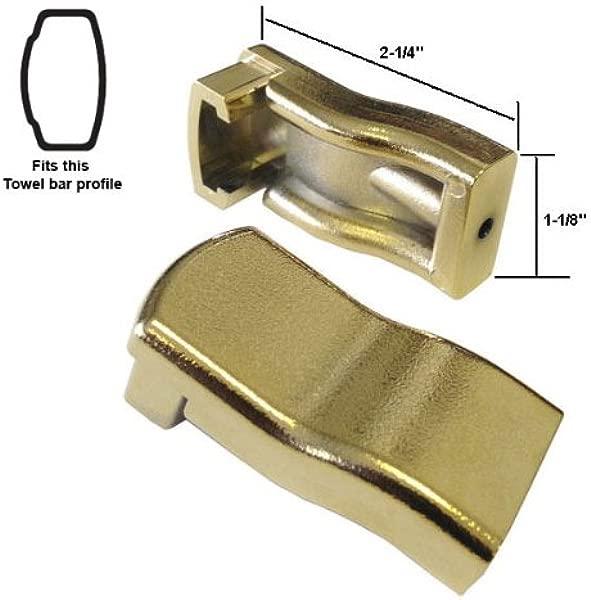 Sterling By Kohler Shower Door Towel Bar Brackets Polished Brass