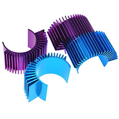 OTOTEC 4 stks voor 540/550 Size elektrische motor warmte wastafel blauw en paars aluminiumlegering koelvinnen