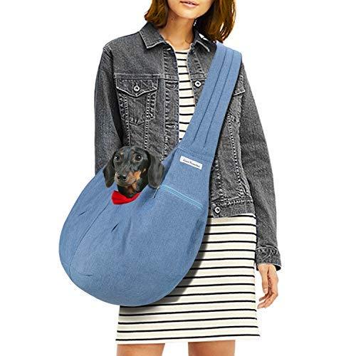 LincaPenneton Stylish Denim Pet Sling Dog Carrier