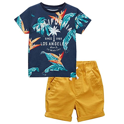 Boys Los Angels The Golden State Tee and Roll-up Shorts Set 5t