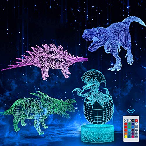 3D Dinosaur Night Light, LED Dinosaur Night Light for Kids