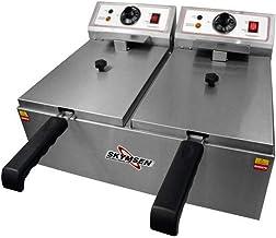 Fritadeira Elétrica Skymsen FED-20-N 10L Inox 2 Cubas
