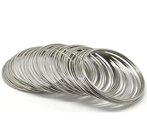 200 Windungen Memory-Draht für Armbänder 55-60mm 0,8mm silbern Memorydraht Wire