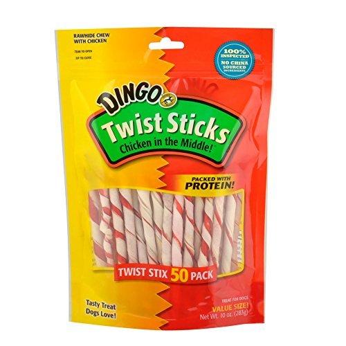 Dbl Treat Twist Stc 50pk by Dingo