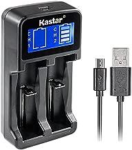 Kastar Intelligent LCD USB Charger for LG HG2, 18650, 26650, 18500, 18490, 18350, 17670, 17500, 16340, RCR123, 14500, 10440 3.7V Lithium Batteries, A AA AAA AAAA Ni-MH/Ni-CD 1.2V Batteries