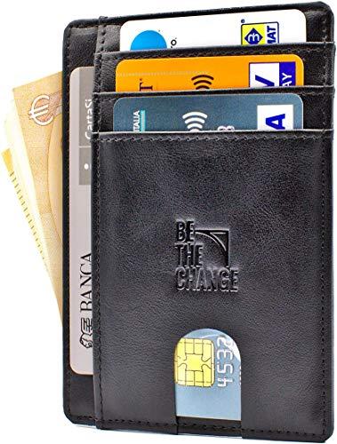 Premium Portafoglio in pelle E CARBONIOregalo uomo portafoglio /& Portafogli