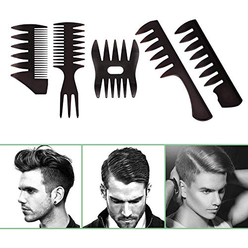 Best New 5pcs/Set Professional Hair Brush Comb Salon Barber Hair Combs Hairbrush Hairdressing Combs Hair Care Styling Tools