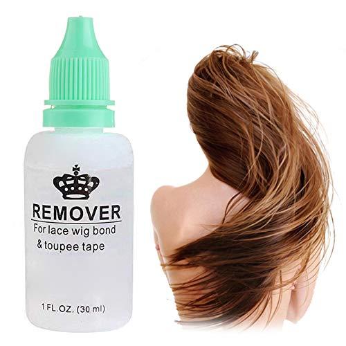 yummyfood Dissolvant Perruque Colle, Dissolvant Colle Cheveux pour Extensions De Cheveux Adhésif, 30ml