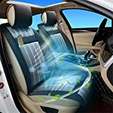 HIMACar Car Seat Cooling Massager,Seat Cooler Massage Cushion Cover Cooling for Summer,Vibrating Massage for Driving WithTemperature Controller Fits for Most Car,Black