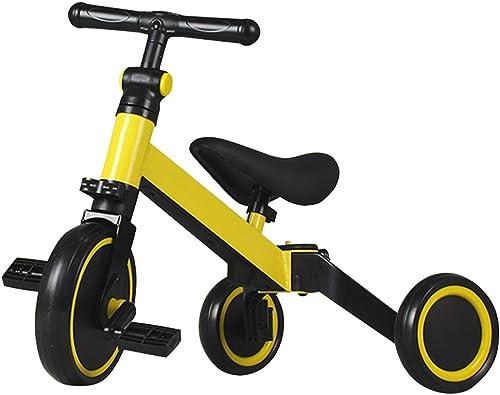 buena calidad GYF Triciclo para Niños Niños Niños con Baby Triciclo Evolutivo Triciclo Plegable con Asiento Giratorio Triciclo para Niños De 10 hasta 36 Meses rojo amarillo blanco 60X45X45CM ( Color   amarillo )  precios bajos