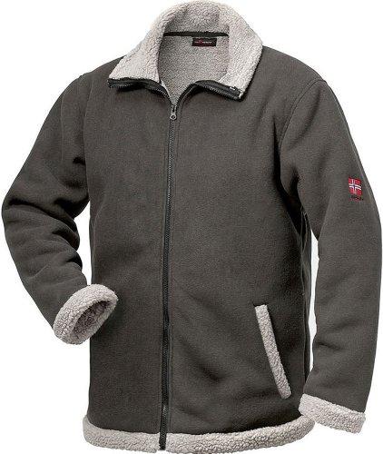 NORWAY Berber Fleece-Jacke - grau - Größe: XXL