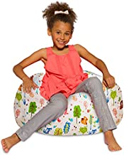 Posh Creations Bean Bag Chair for Kids, Teens, and Adults Includes Removable and Machine Washable Cover, 27in - Medium, Canvas Animals Forest Critters