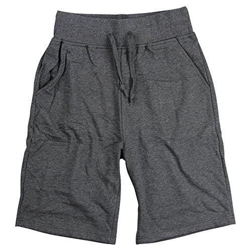 Urban Boundaries Mens Long Elastic Waist Drawstring Casual Shorts (Charcoal, Large)