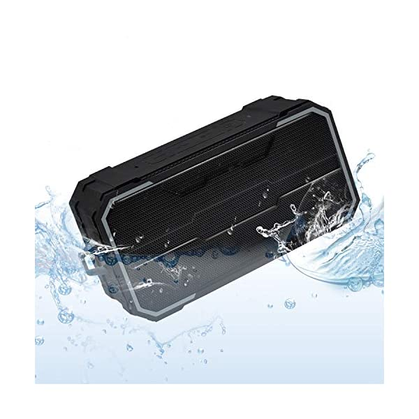 Portable Bluetooth Speaker, IPX6 Waterproof Wireless Speaker with 10W HD Stereo Sound, Rich Bass, 10H Playtime, Built-in Mic and AUX/SD Input for Shower, Pool, Outdoor, Travel 3