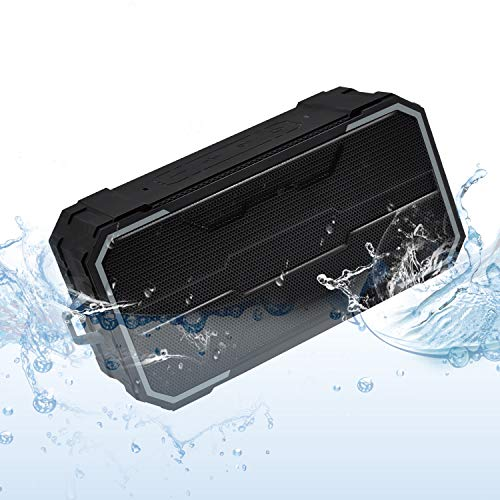 Zosam Portable Bluetooth Speaker, IPX6 Waterproof Wireless Speaker with 10W HD Stereo Sound, Rich Bass, 10H Playtime, Built-in Mic and AUX/SD Input for Shower, Pool, Outdoor, Travel