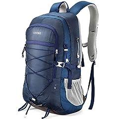 Idea Regalo - HOMIEE Zaino da Trekking 45 Litri, Resistente all'Acqua, Zaino da Escursione per Trekking Alpinismo, Multifunzione Zaino da Campeggio per Sport Viaggio,Donna e Uomo,Blu