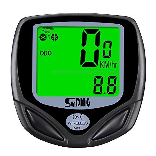 MOPOIN Fahrradcomputer Kabellos, 16 Funktionen Fahrrad Tachometer Fahrradcomputer Wasserdicht Auto Aufwecken LCD Hintergrundbeleuchtung für Radsport Radgeschwindigkeits Tracking