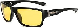 SGJFZD Sports Polarized Sunglasses Men Aluminum Magnesium Outdoor Riding Glasses Windshield Sunglasses for Mens (Color : Yellow)