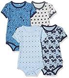*pippi *4er *Pack *Baby Bodi *mit *Aufdruck, *Kurzarm, Blau (*Blue 725), 98 cm per a Nens