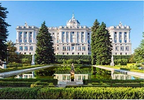 NO BRAND Conradsha - 1000 Piezas Puzzle - Palacio Real de Madrid - Rompecabezas para niños Adultos Juego Creativo Rompecabezas Navidad decoración del hogar Regalo