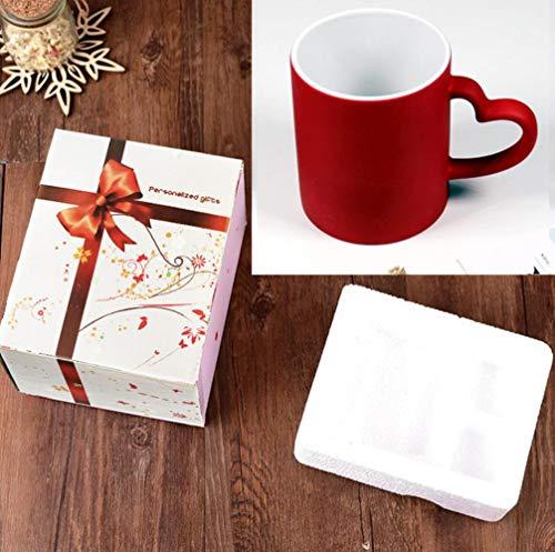 KWHY DIY Gepersonaliseerde Magische Mok Warmtegevoelige Keramische Mokken Kleur Veranderende Koffiemokken Melkkop Gift Print Foto's, Hart Rode Doos