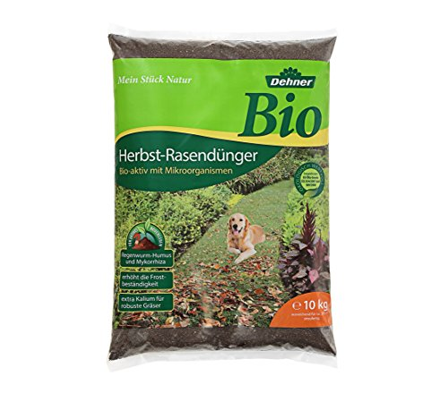 Dehner Bio Herbstrasendünger, 10 kg, für ca. 200 qm