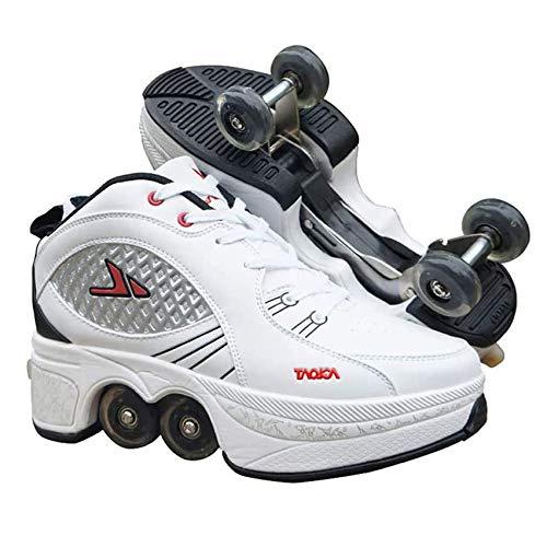 Vervorm Rolschaatsen Multifunctioneel Verstelbaar Onzichtbaar 4-wielige Mannelijke en Vrouwelijke Automaat Comfortabele Katrolschaatsen Outdoor Mode Sportschoenen