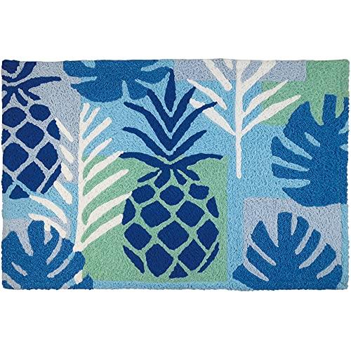 Pineapple Themed Rug Fruit Themed Rug Palm Leaves Rug Jellybean Rug Pineapple & Palm Coastal