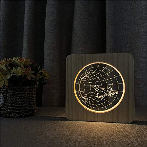 Multi-Color Three-Dimensional Space-time Flying 3D Table lamp Children's Gift LED Acrylic Bedside Table lamp Room Decoration | Baby Products Night Light