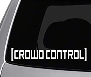 Seek Racing Crowd Control Decal Sticker CAR Truck Window Bumper Sticker Mustang Crash JDM Funny Low Illest
