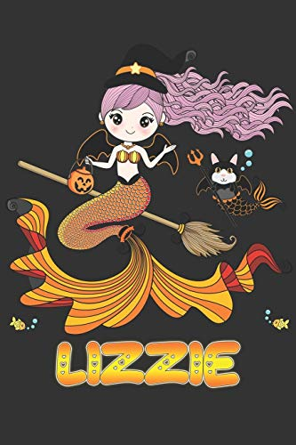 Lizzie: Lizzie Halloween Beautiful Mermaid Witch Want To Create An Emotional Moment For Lizzie?, Show Lizzie You Care With This Personal Custom Gift ... Very Own Planner Calendar Notebook Journal