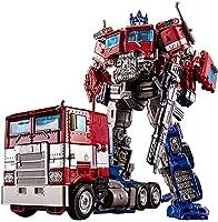 QIXIAOCYB ロボットカー、ダークオプティマス司令官プライムVoyager Trailer Ko変形カーアクションフィギュアの子供の誕生日プレゼント (Color : Red)