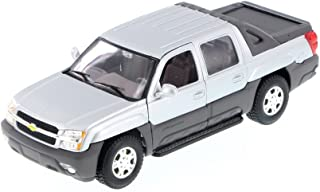 Welly 2002 Chevy Avalanche Pick Up Truck, Silver 22094 - 1/24 Scale Diecast Model Toy Car but NO BOX