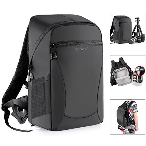 Neewer 48x33x20cm Grande Zaino Backpack Impermeabile Antiurto con Funzione Antifurto per Fotocamere DSLR & Mirrorless e Altri Accessori Fotografici (Nero)