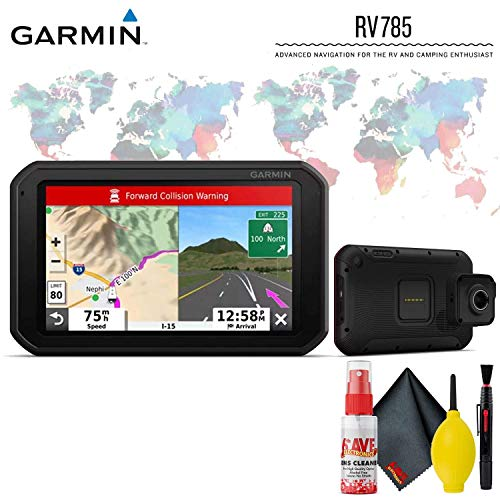 "Garmin RV 785 & Traffic, Advanced GPS Navigator for RVs with Built-in Dash Cam, 7"" Touch Display and Voice-Activated Navigation Base Accessory Kit"