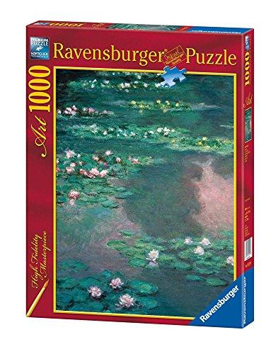 Ravensburger Puzzle Puzzle 1000 Pezzi, Le Ninfee, Monet, Collezione Arte, Puzzle Arte per Adulti, Puzzle Monet, Puzzle Ravensburger - Stampa di Alta Qualità
