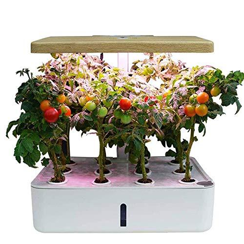GAO-BO Hydroponics Wachstumssystem, intelligente Pflanzmaschine Smart Touch, Lüfter- und Wasserpumpenmodus, Gemüse-Modus, Blume & FruitsMode und 23W Pflanzenfülllicht