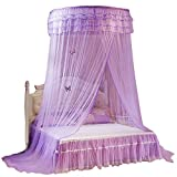 Best Queen Loft Bed - Bed Curtain, Breathable Round Canopy Lace Princess Style Review