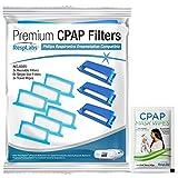 RespLabs Filtros CPAP, Compatibles con el Dispositivo Philips DreamStation, 3 Reutilizables y 6 Desechables