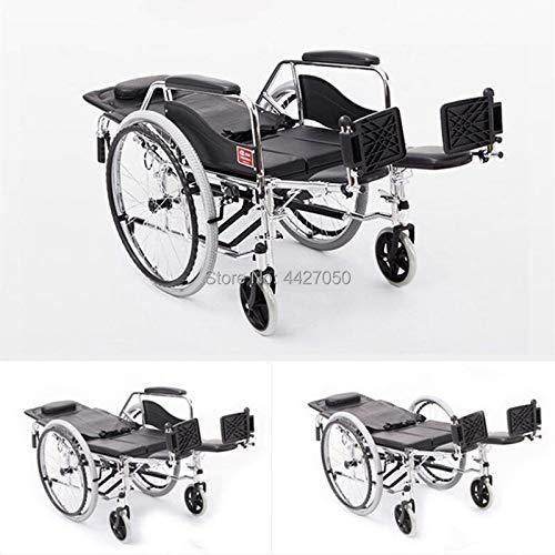 JINKEBIN Electric Silla de Ruedas Precio de fábrica Plegable con un Inodoro Manual para sillas de Ruedas para discapacitados y Ancianos.