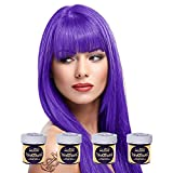 La Riche Directions Color de cabello semipermanente violeta (todos los colores disponibles) [4 x 88ml] [Morado]