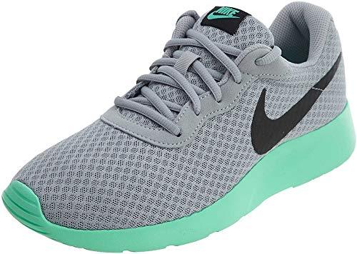 Nike Tanjun, Scarpe da Ginnastica Basse Uomo, Grigio (Wolf Grey/Black/Green Glow), 43 EU